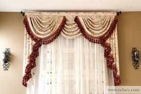 Valance Curtains For Bedroom Swag Curtains For Bedroom Valance Curtains With Swags And Tails By