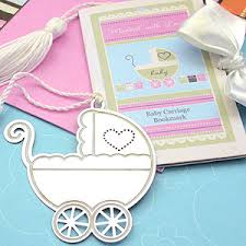 bookmark favors baby carriage bookmark favor baby shower favors