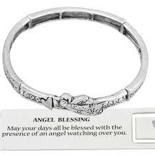 blessed bracelet guardian angel blessing bracelet cz crystals inspirational