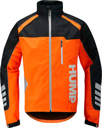 road cycling waterproof jacket hump strobe waterproof jacket safety orange london bicycle workshop