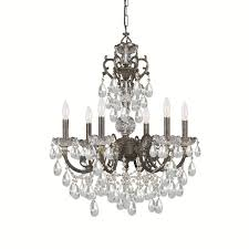 Bronze Chandelier With Crystals Crystorama Legacy 6 Light English Bronze Chandelier Free