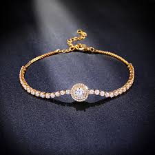 gold chain bracelet with charm images Brand new gold bracelet charms pave cubic zirconia zircon gold jpg