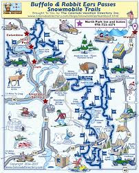 steamboat springs east snowmobile trails map colorado vacation
