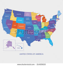map of america with country names usa map name countriesunited states america stock vector 239038003