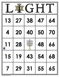 hanukkah bingo 35 hanukkah light bingo cards
