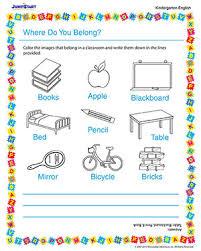 where do you belong u2013 fun printable kindergarten english