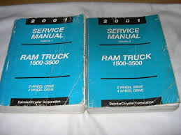 2001 dodge ram 1500 2500 3500 truck service manual repair shop