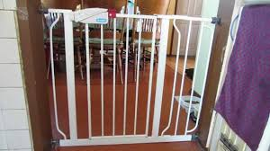 Baby Safety Gates For Stairs Regalo Easy Step Walk Thru Baby Gate Youtube