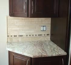 backsplash edge of cabinet or countertop straight edge tile travertine kitchen back splash