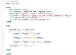 Resume Footer Documentation Of Forward A Free Cv Resume Html Website Template