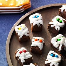 mummy cakes halloween mummy brownies recipe taste of home