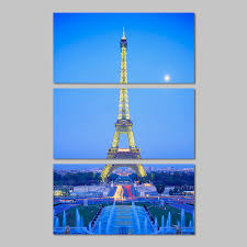 Eiffel Tower Garden Decor City Landscape Paris Night Moon Eiffel Tower Decoration Wall Art
