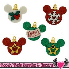 disney mickey mouse christmas ornaments licensed buttons mickey