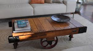 Rustic Coffee Table On Wheels Stunning Rustic Coffee Table With Wheels Rustic Coffee Table On