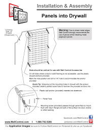 Hanging Pictures On Drywall by Metal Pegboard Installation How To Install Peg Boards By