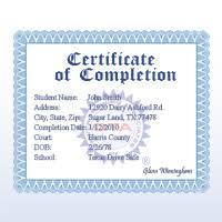 senior driving class defensive driving certificate
