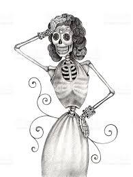 Halloween Skull Drawings Skull Art Fashion Model Day Of The Dead Stock Vector Art 474291292