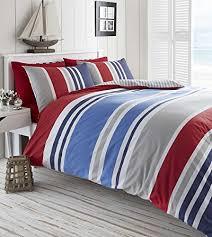 The Range Duvet Covers Laguna Duvet Quilt Cover Single Nautical Stripes Bedding Set Red