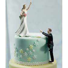 comical wedding cake toppers