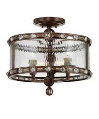 Crystal Flush Mount Lighting Savoy House 6 6032 3 Paragon 17 Inch Wide Semi Flush Mount