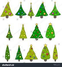 christmas tree clipart set xmas trees stock vector 165100448