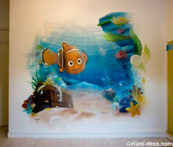 fresque chambre bébé fresque décoration de chambre le trésor de nemo