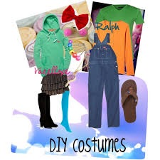 Wreck It Ralph Costume Diy Wreck It Ralph And Vanellope Couples Costumes Polyvore
