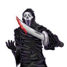 lifesize animated ghostface scream halloween prop figure deluxe