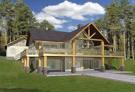 House Plans With Finished Walkout Basements Small Cabins With Basements Small Country Cabin House Plan