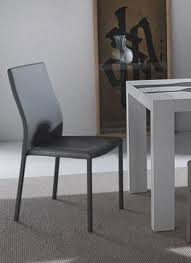 chaise simili cuir gris lot de 2 chaises design hellen en tissu enduit polyurethane simili
