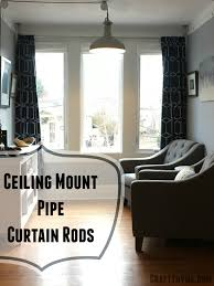 how to make galvanized pipe curtain rods u2022 craft thyme