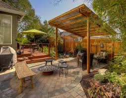 Patio Privacy Ideas Patio Privacy Screen Landscape Modern With Wood Fence Wood Deck