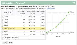 bid price rolling out bid simulator search engine land