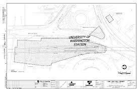 sound transit site plan for university of washington light rail
