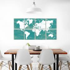 World Map Wall Art for Sale 6 Piece Wall Art by RightGrain