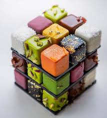 rubik u0027s cube cakes by cédric grolet put a playful spin on pastries