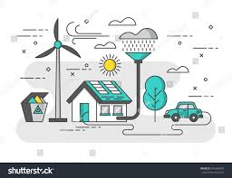 Eco Friendly House by Ecology Concept Eco Friendly House Green Stock Vector 364606976