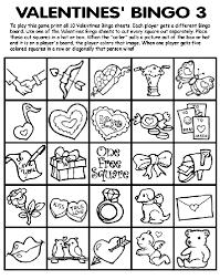 valentines bingo valentines bingo 3 coloring page crayola