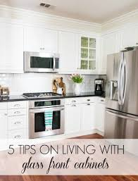 kitchen cabinet doors with glass fronts 5 tips on living with glass cabinets a thoughtful place