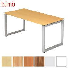 Schreibtisch In Buche Bümö Massiver Schreibtisch Höhenverstellbar Bürotisch Extrem