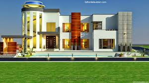 3d front elevation com 3 kanal modern contemporary house design