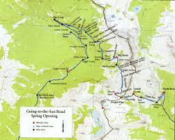 map of the road a map detailing the going to the sun road and the 40 avalanche