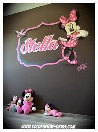 decoration chambre minnie graffiti deco graff décoration bébé baby graffeur déco taggeur