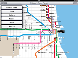 Metro In Chicago Map by Chicago L Rapid Transit Application For Ipad