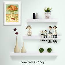 oz crazy mall 3pcs wall floating shelf set concealed shelves