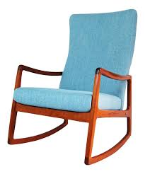 Rocking Chair Png Ole Wanscher Danish Modern Teak High Back Rocking Chair Chairish