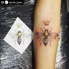 queen bee and flora blackwork bee tattoo reminder that these