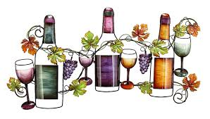 gorgeous wine bottle metal wall art oh look its wine wine glass