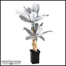 7 zebra print palm tree in metal planter