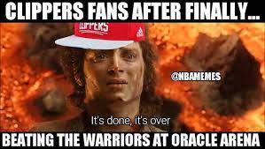 Clippers Memes - nba memes clippers nation finally beat warriors nation facebook